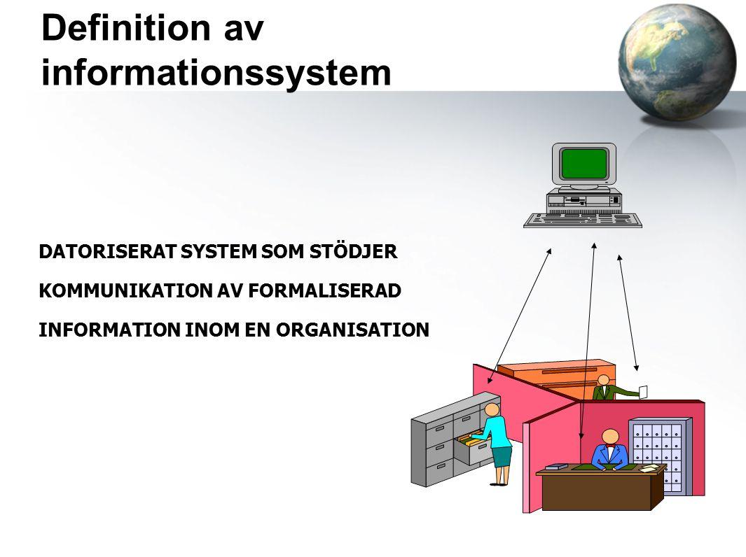 Definition av informationssystem