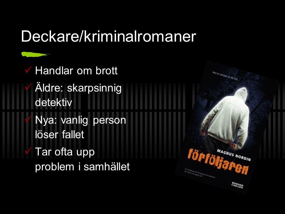Deckare/kriminalromaner