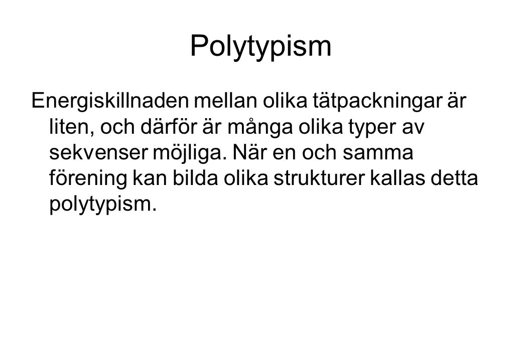 Polytypism
