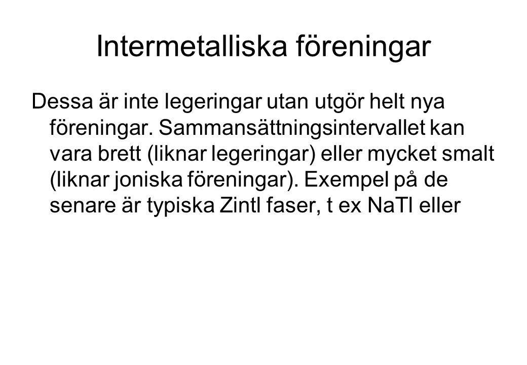 Intermetalliska föreningar