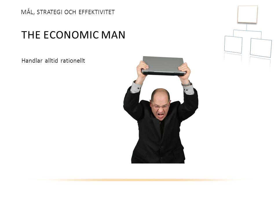 The economic man MÅL, STRATEGI OCH EFFEKTIVITET