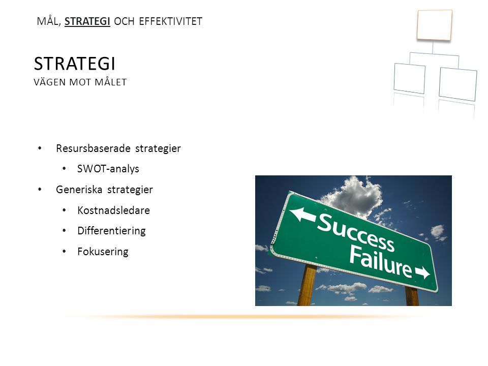 Strategi vägen mot målet