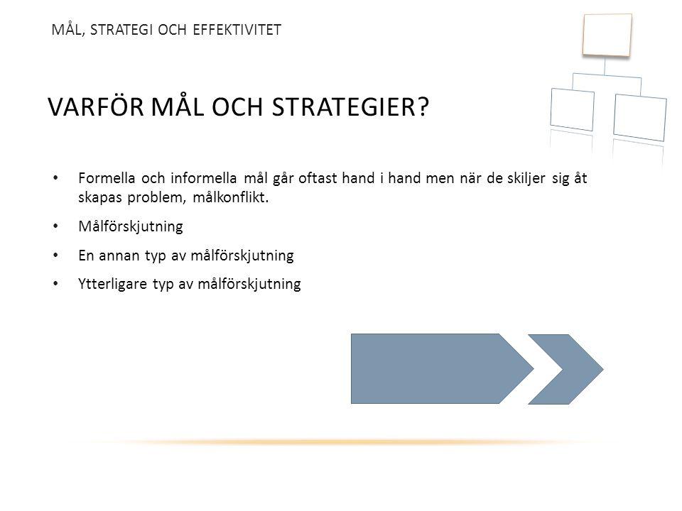 Varför mål och strategier