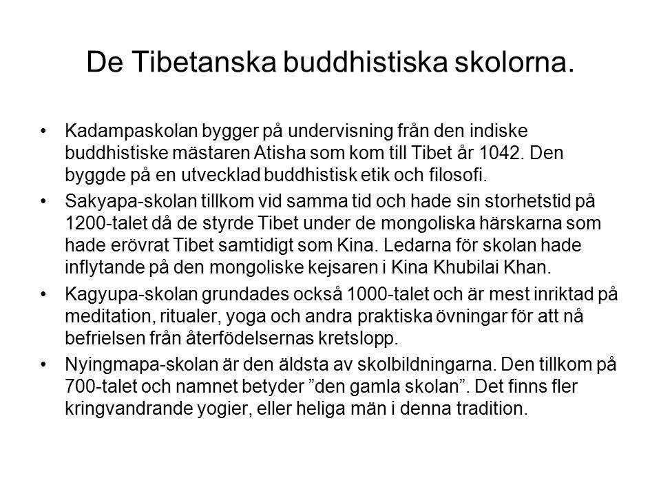 De Tibetanska buddhistiska skolorna.