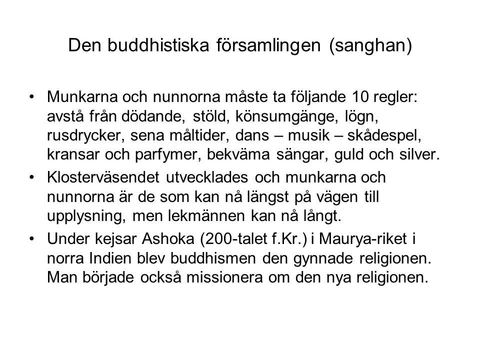 Den buddhistiska församlingen (sanghan)