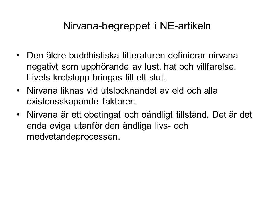 Nirvana-begreppet i NE-artikeln