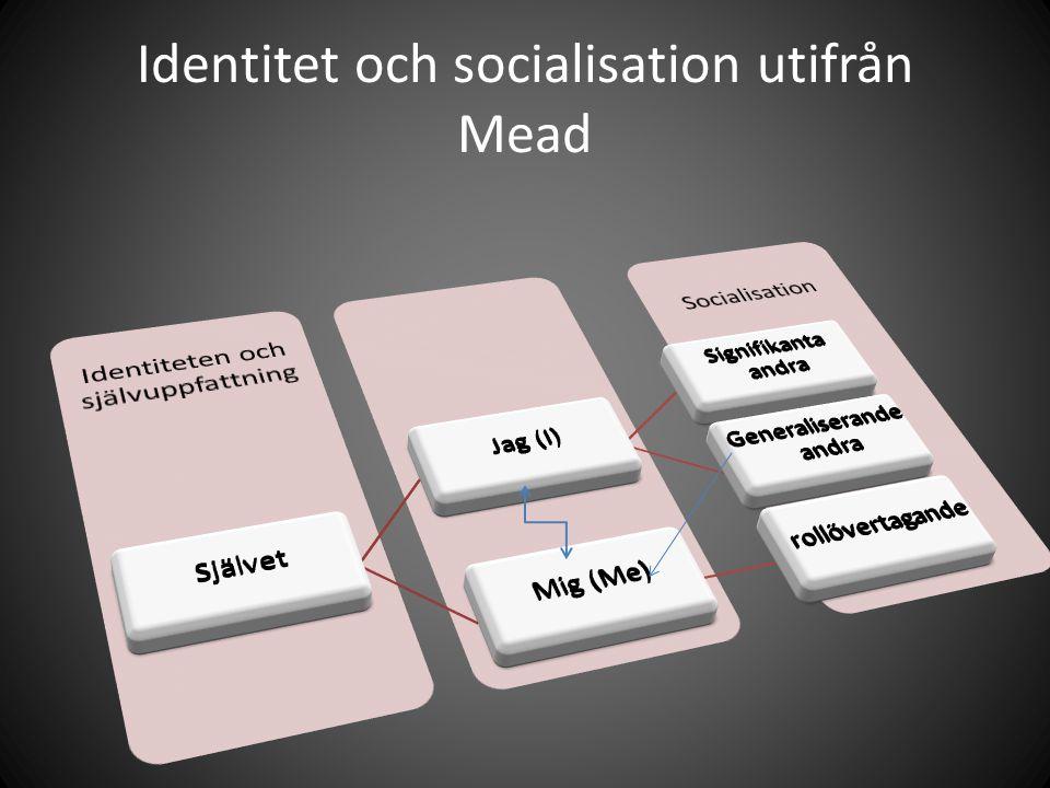 Identitet och socialisation utifrån Mead