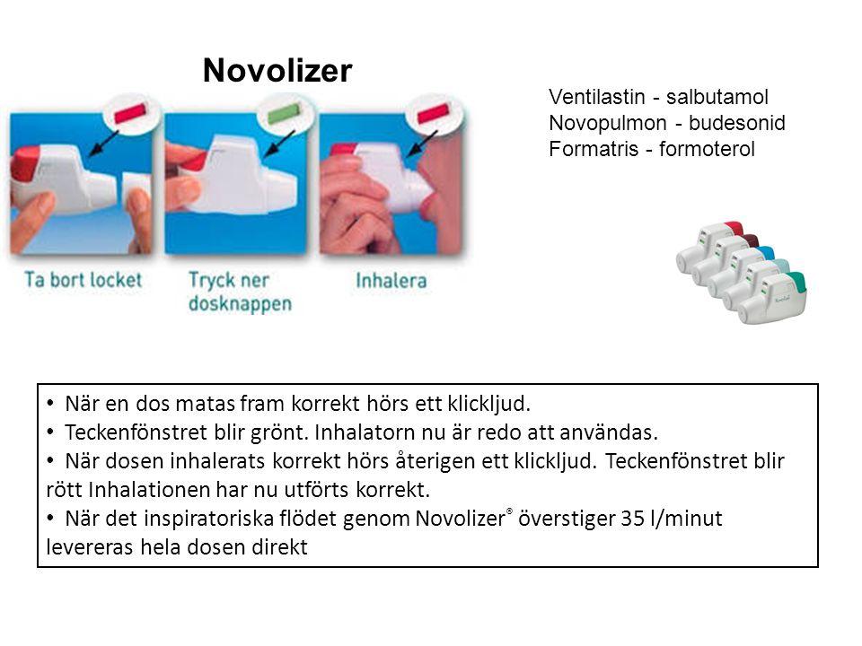 Novolizer Novolizer När en dos matas fram korrekt hörs ett klickljud.