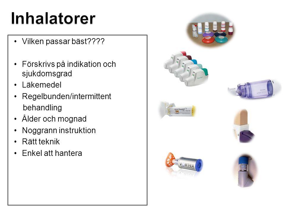 Inhalatorer Vilken passar bäst