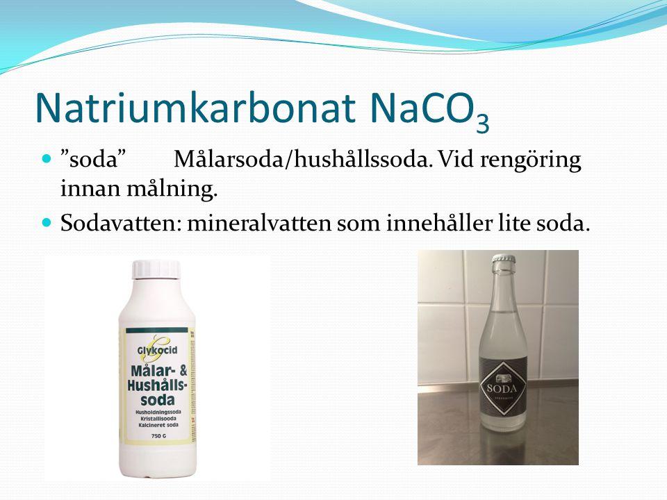 Natriumkarbonat NaCO3 soda Målarsoda/hushållssoda.