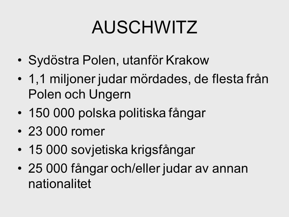 AUSCHWITZ Sydöstra Polen, utanför Krakow