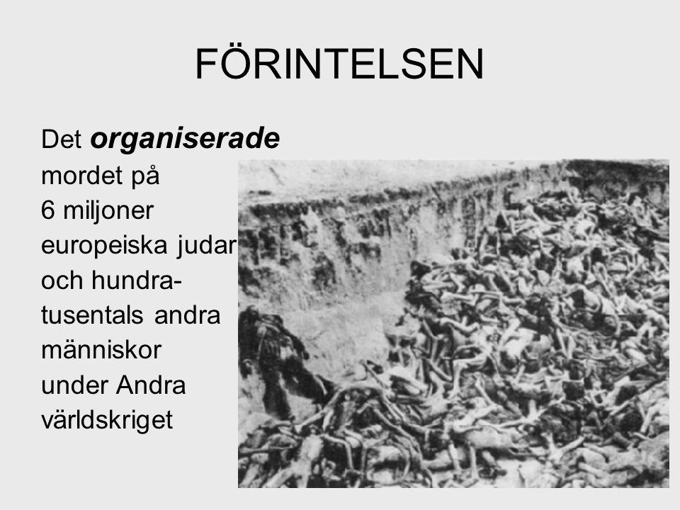 FÖRINTELSEN Det organiserade mordet på 6 miljoner europeiska judar