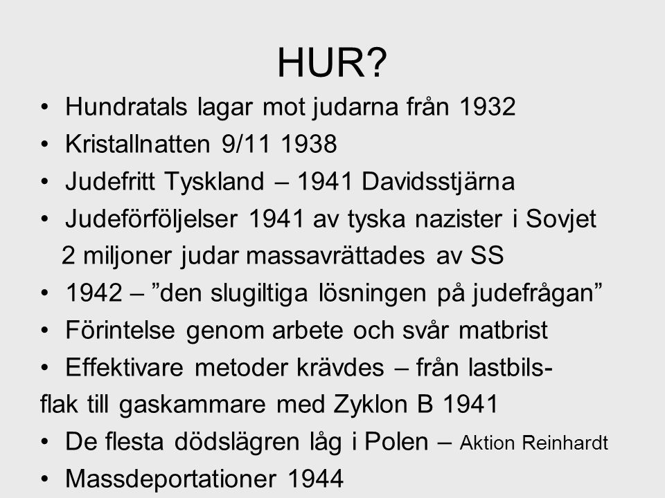 HUR Hundratals lagar mot judarna från 1932 Kristallnatten 9/11 1938
