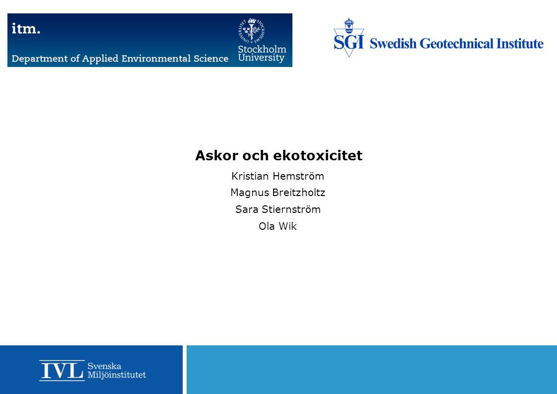 Askor och ekotoxicitet