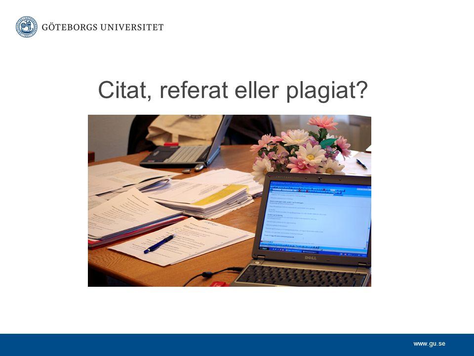 Citat, referat eller plagiat