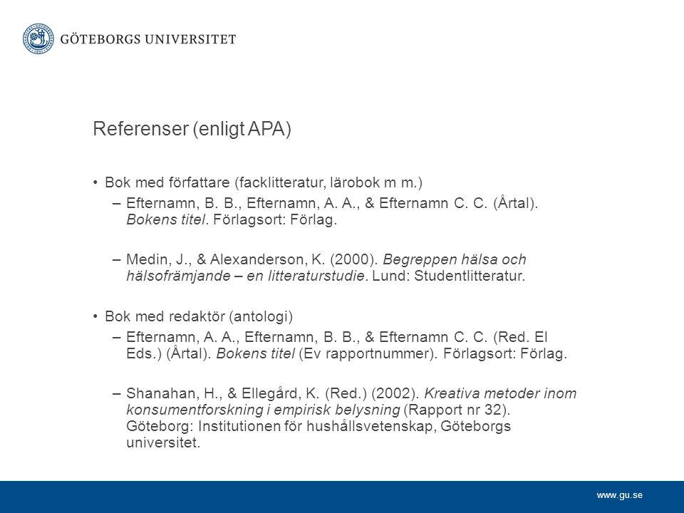 Referenser (enligt APA)