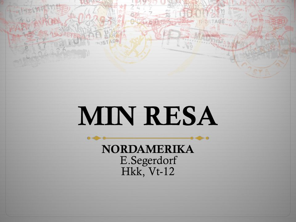 NORDAMERIKA E.Segerdorf Hkk, Vt-12