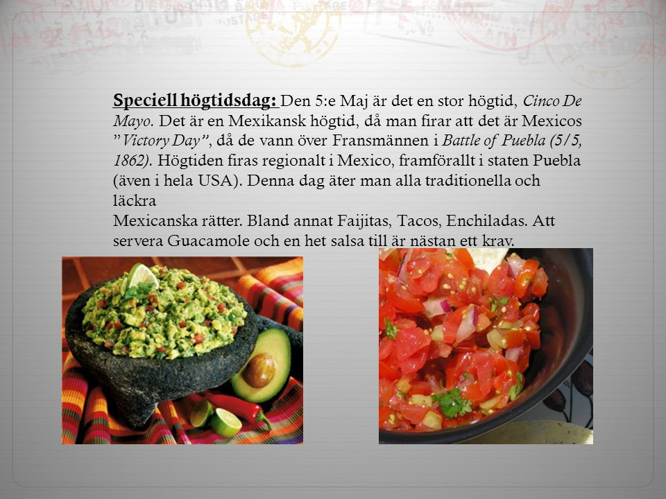 Speciell högtidsdag: Den 5:e Maj är det en stor högtid, Cinco De Mayo