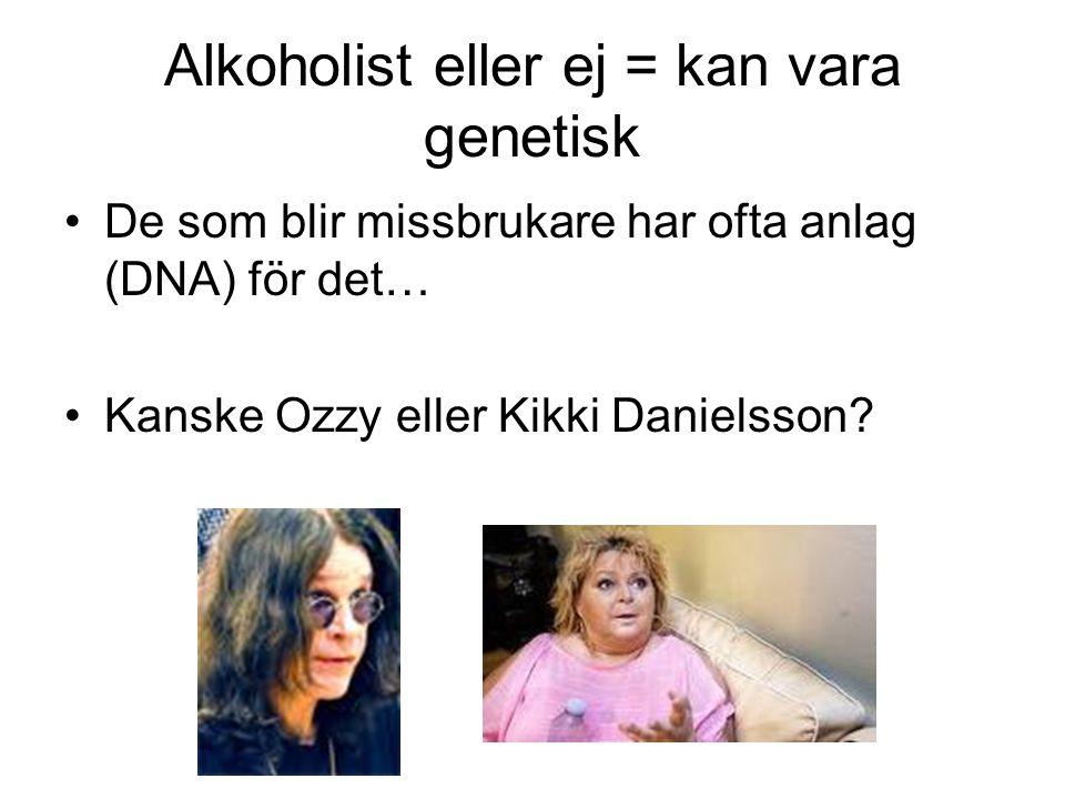 Alkoholist eller ej = kan vara genetisk