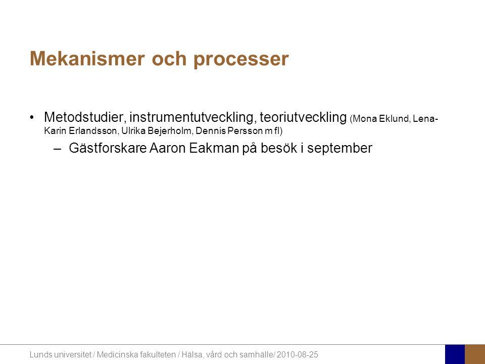 Mekanismer och processer