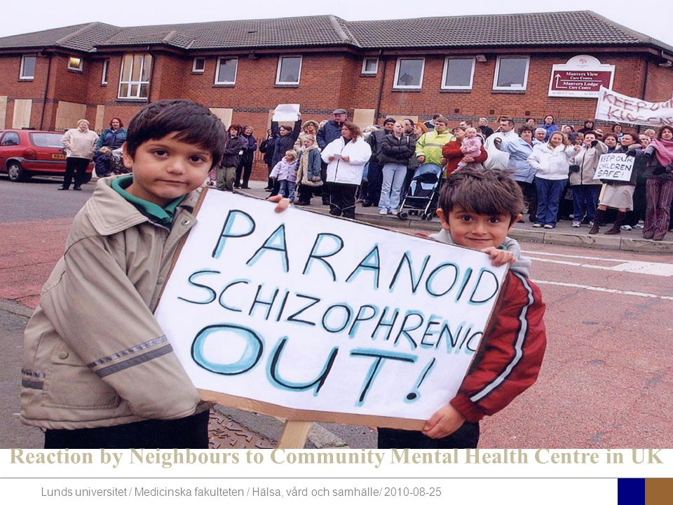 Reaction by Neighbours to Community Mental Health Centre in UK