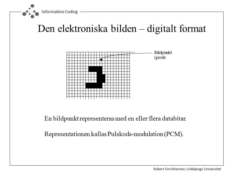 Den elektroniska bilden – digitalt format