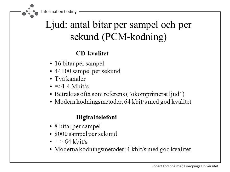 Ljud: antal bitar per sampel och per sekund (PCM-kodning)