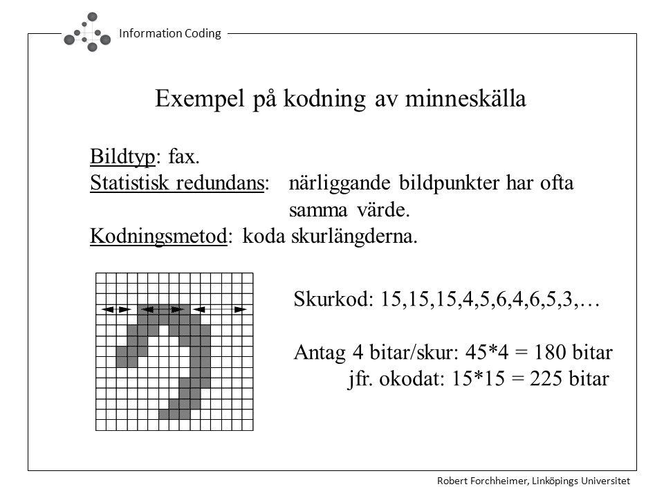 Exempel på kodning av minneskälla