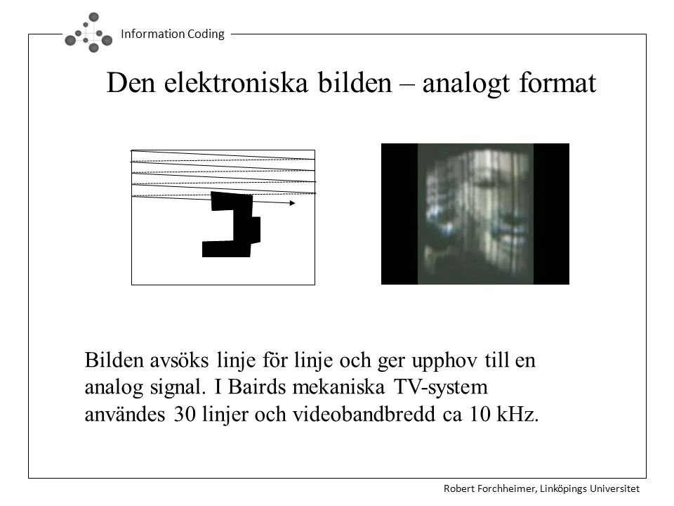 Den elektroniska bilden – analogt format