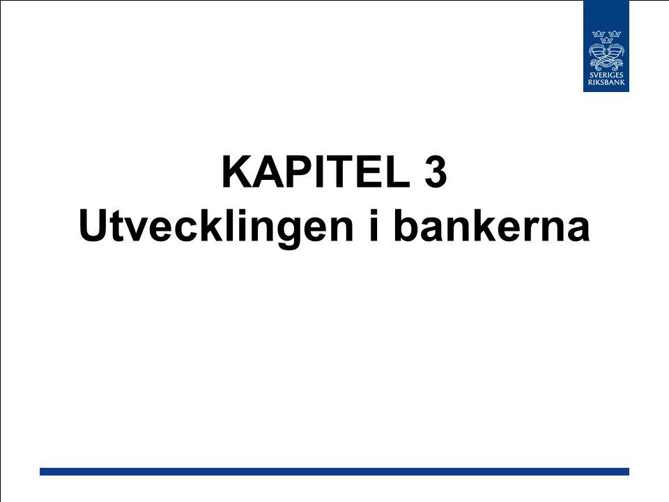 KAPITEL 3 Utvecklingen i bankerna