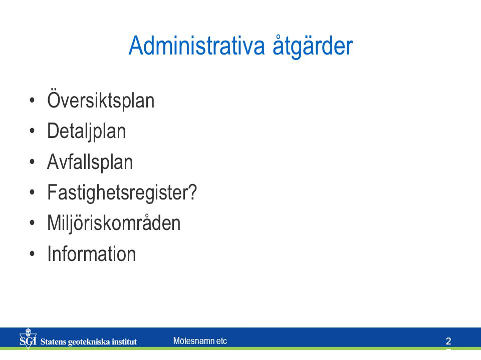 Administrativa åtgärder