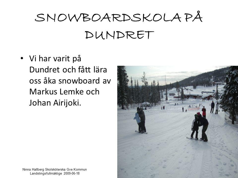 SNOWBOARDSKOLA PÅ DUNDRET