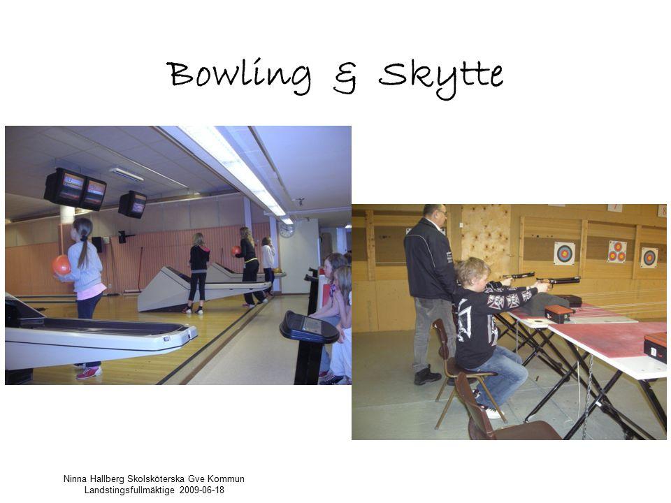 Bowling & Skytte Ninna Hallberg Skolsköterska Gve Kommun Landstingsfullmäktige 2009-06-18