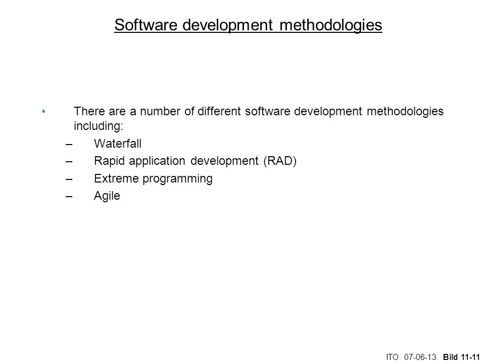 Software development methodologies