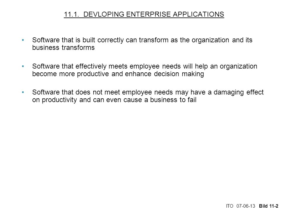 11.1. DEVLOPING ENTERPRISE APPLICATIONS