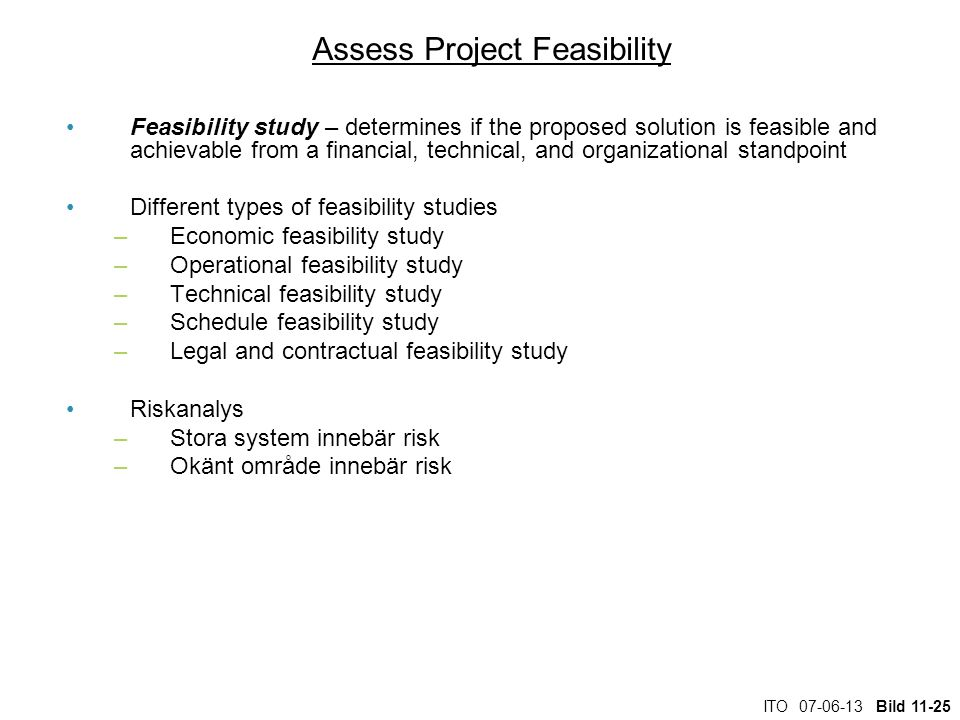 Assess Project Feasibility
