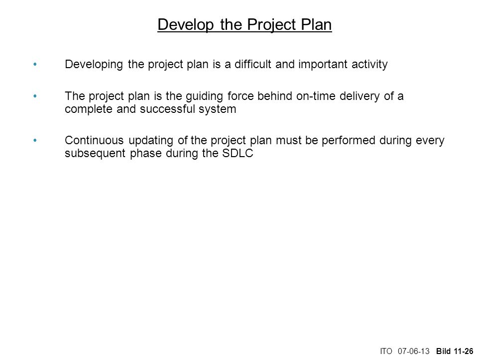 Develop the Project Plan
