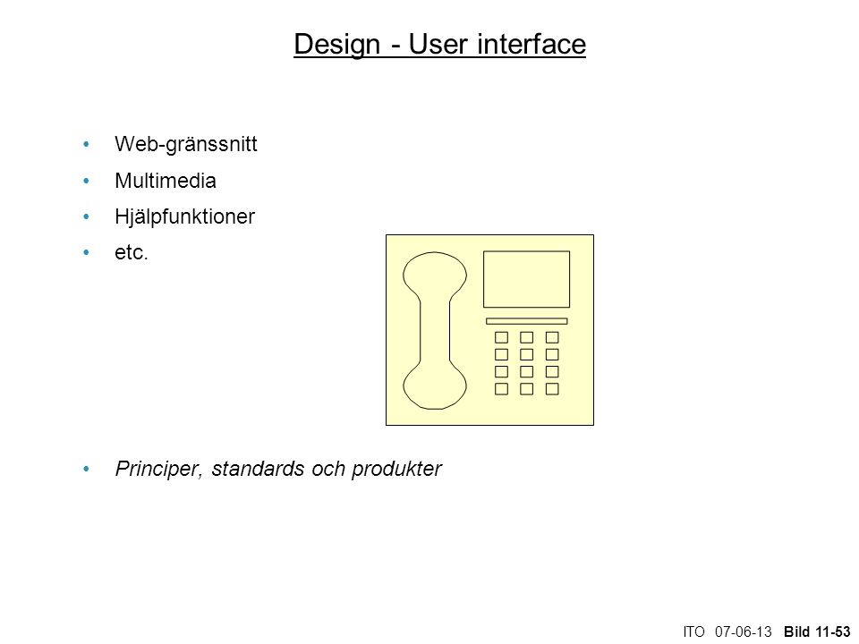 Design - User interface