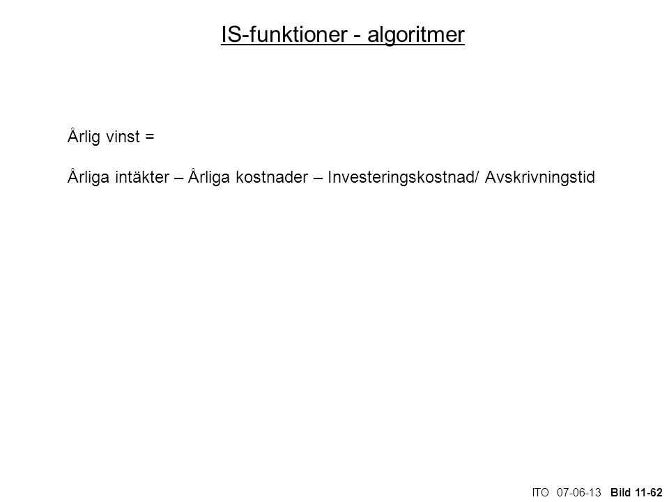 IS-funktioner - algoritmer