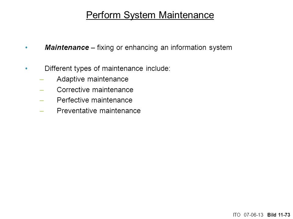 Perform System Maintenance