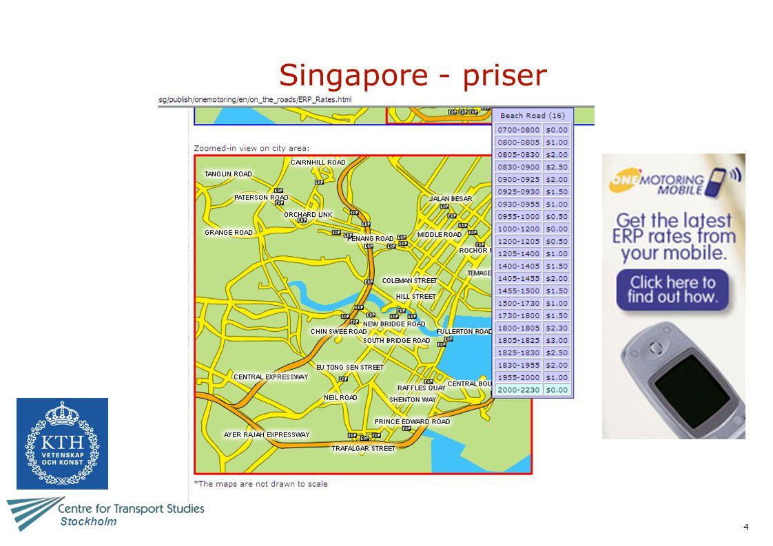 Singapore - priser