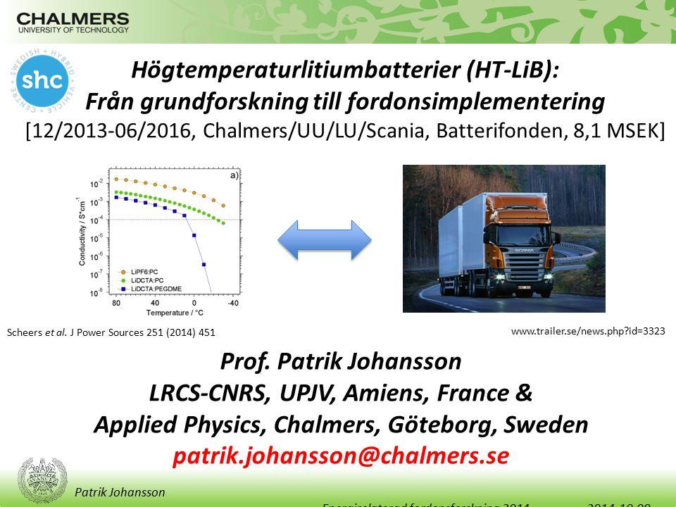 Högtemperaturlitiumbatterier (HT-LiB):