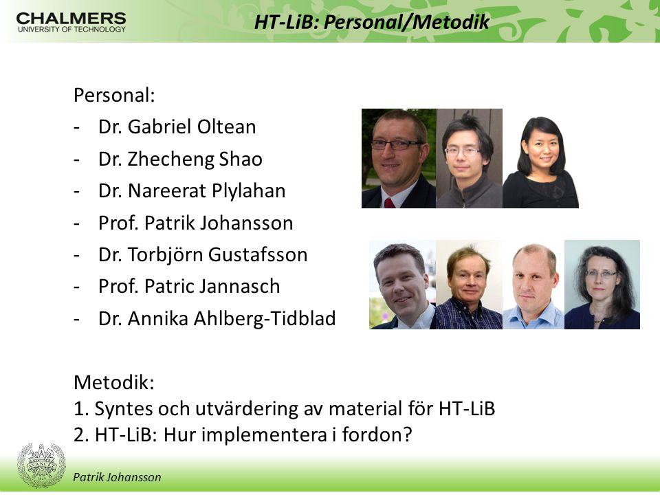 HT-LiB: Personal/Metodik
