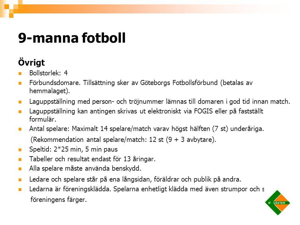 9-manna fotboll Övrigt Bollstorlek: 4