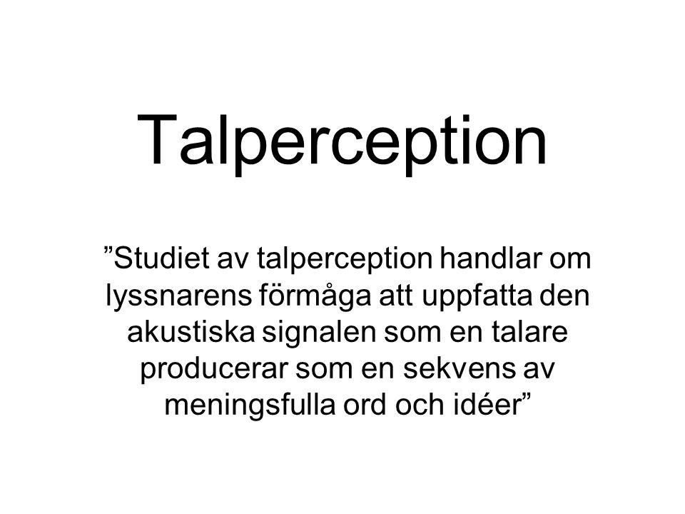 Talperception