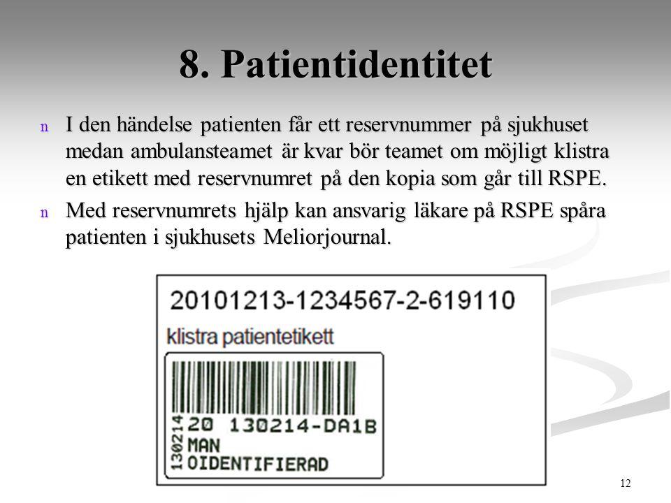 8. Patientidentitet