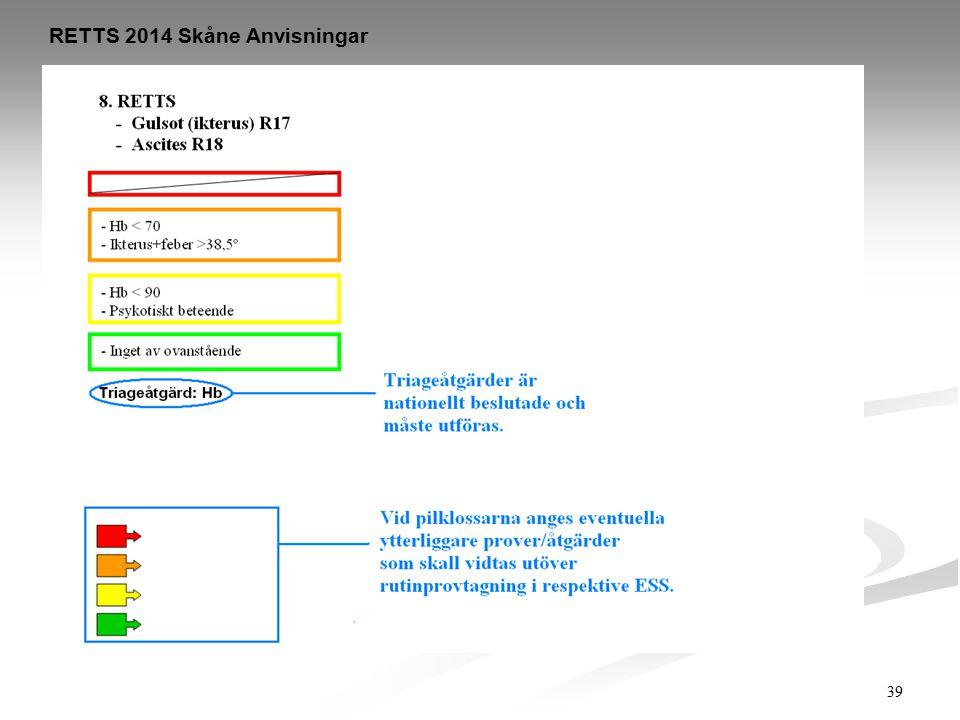 RETTS 2014 Skåne Anvisningar