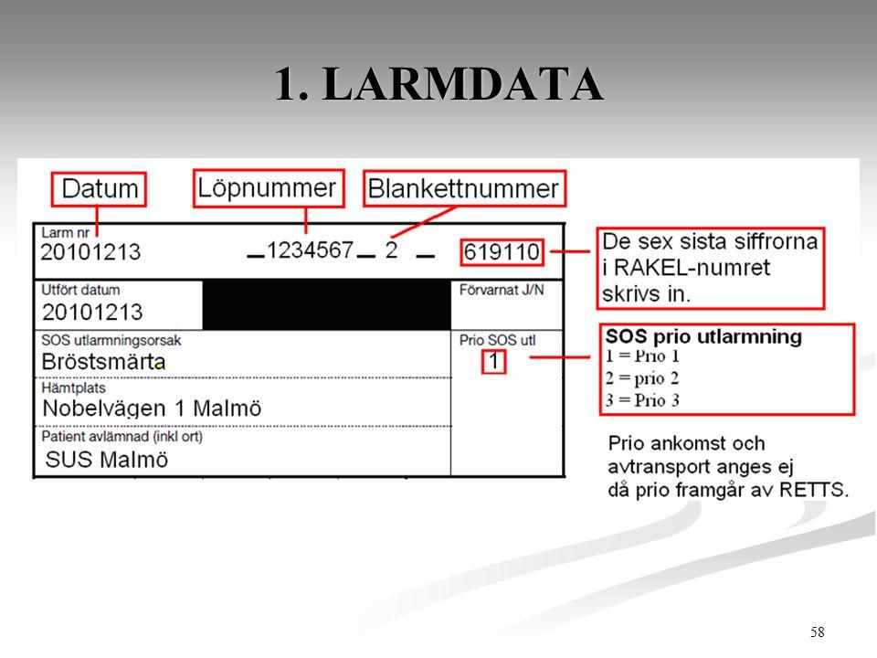 1. LARMDATA