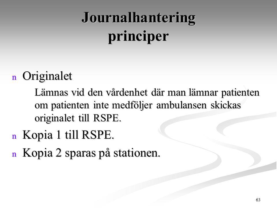 Journalhantering principer