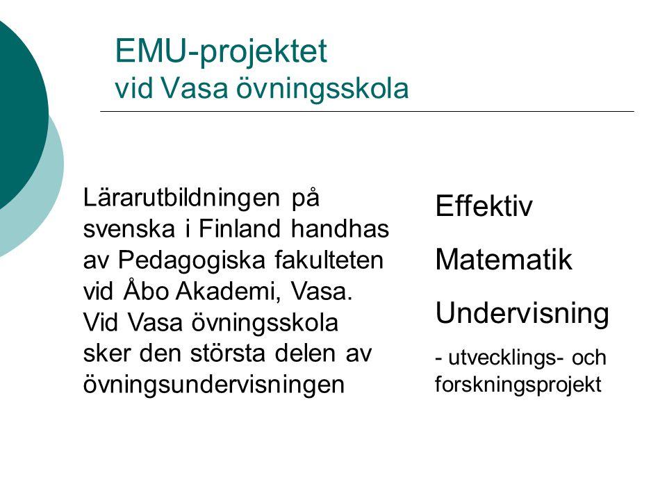EMU-projektet vid Vasa övningsskola